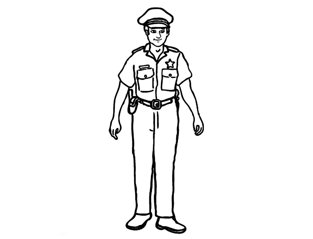 Policeman Sketch At Paintingvalley