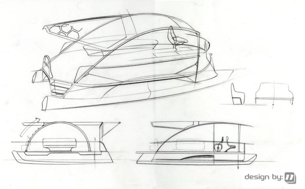 medium resolution of 1600x994 designby11 solar electric pontoon boat design pontoon boat sketch
