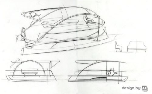 small resolution of 1600x994 designby11 solar electric pontoon boat design pontoon boat sketch