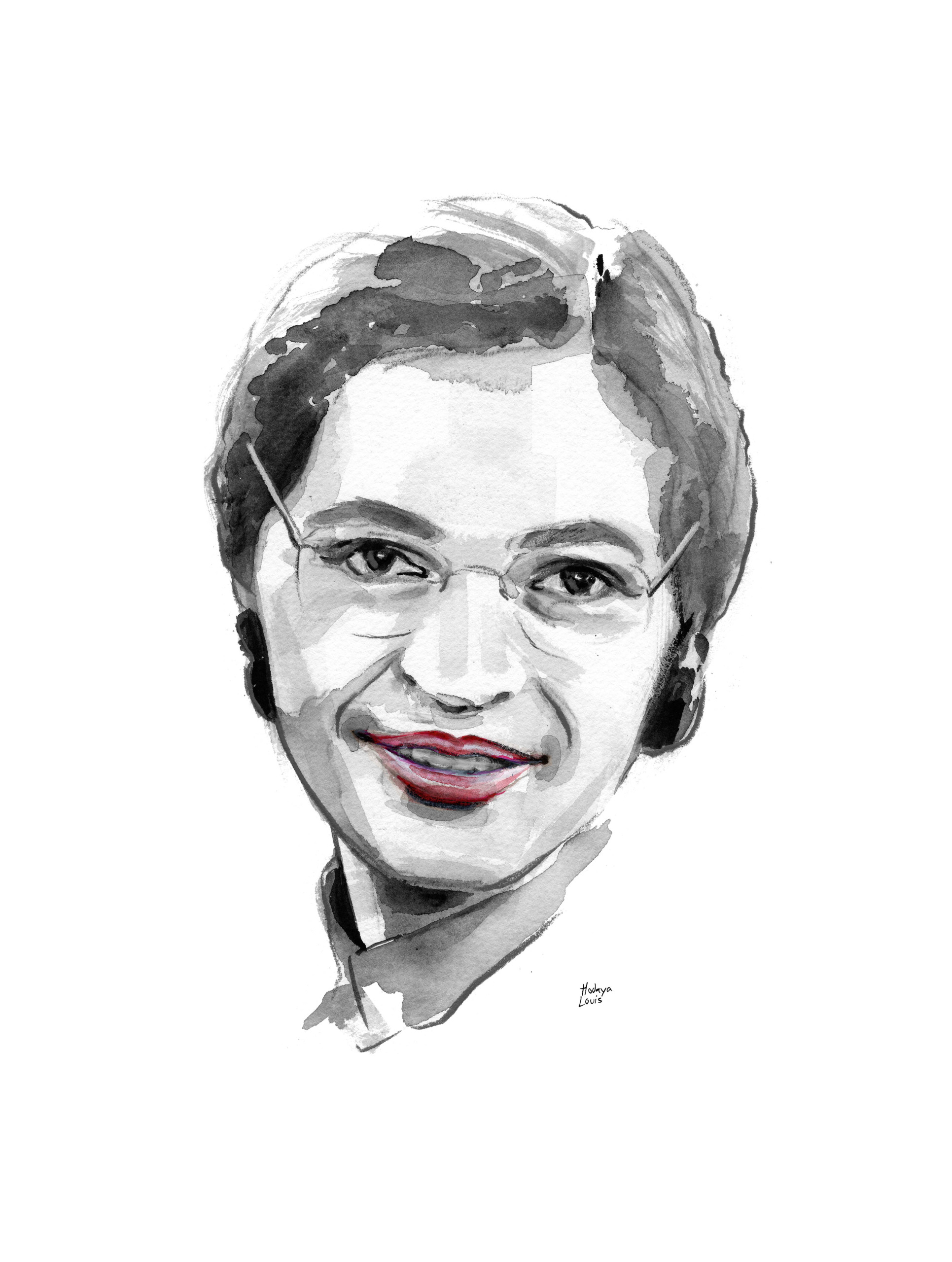 hight resolution of 1931x2560 rosa parks fine art print 13 by 19 rosa parks sketch