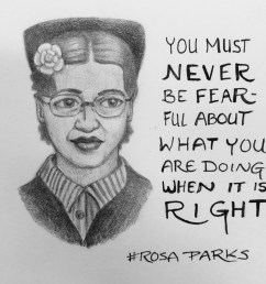 2396x2421 rosa parks draw each day rosa parks sketch [ 2396 x 2421 Pixel ]