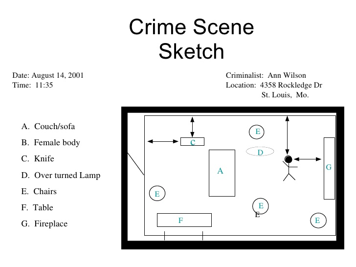 Rough Sketch Of Crime Scene at PaintingValley.com