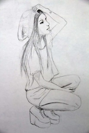 sad sketch drawing sketches easy drawings paintingvalley elegant