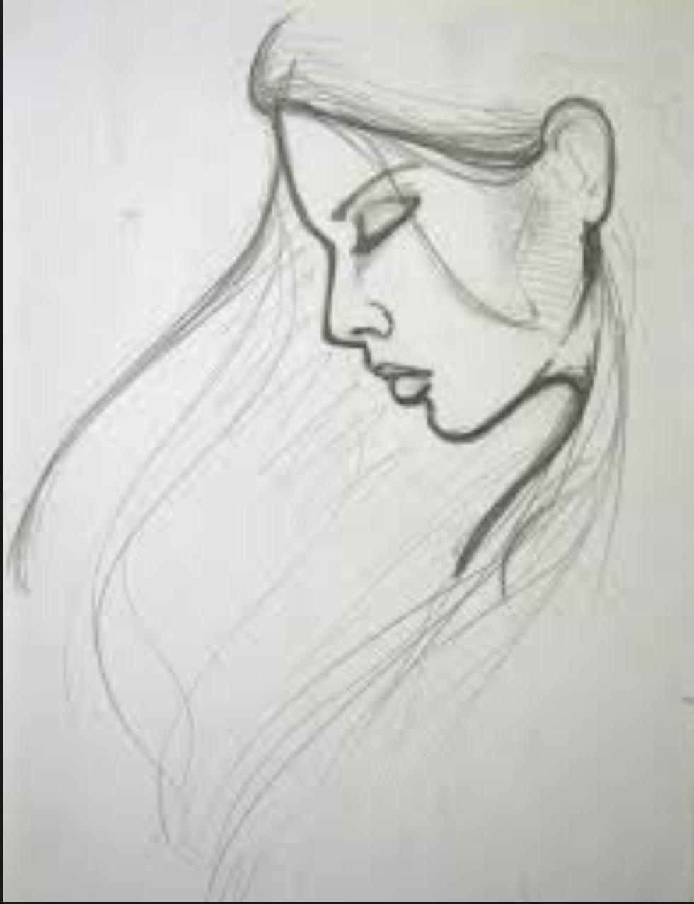 Sad Girl Sketch Tumblr Drawing Ideas Www Galleryneed Com