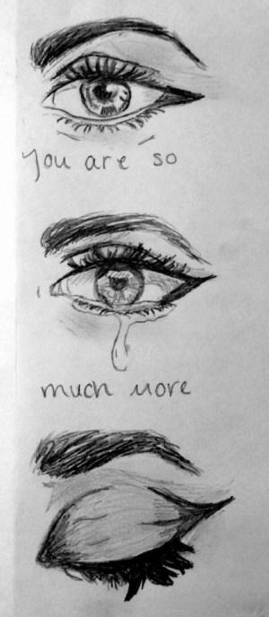 sad sketches drawings easy depression paintingvalley sketch unique