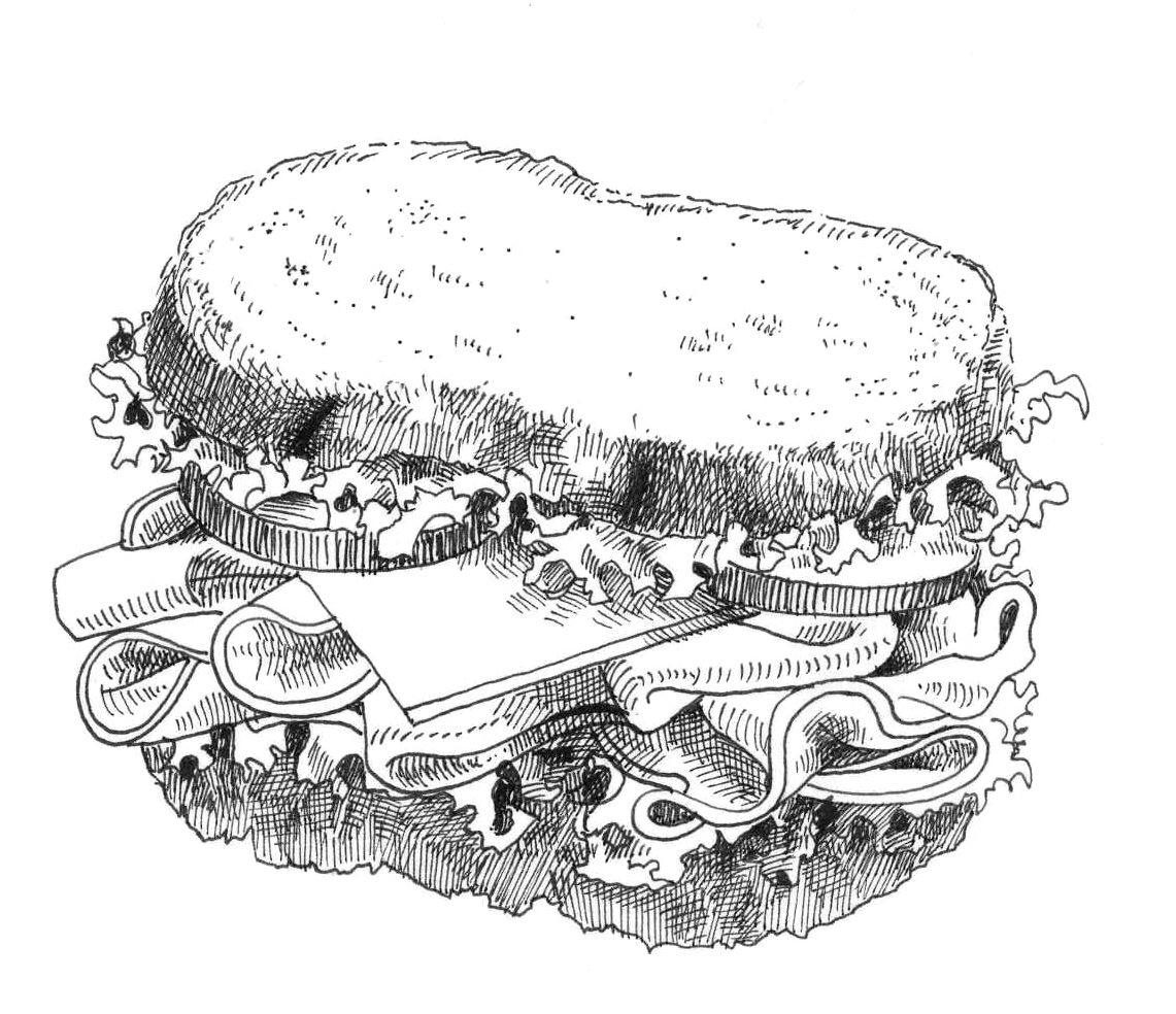 Sandwich Sketch At Paintingvalley
