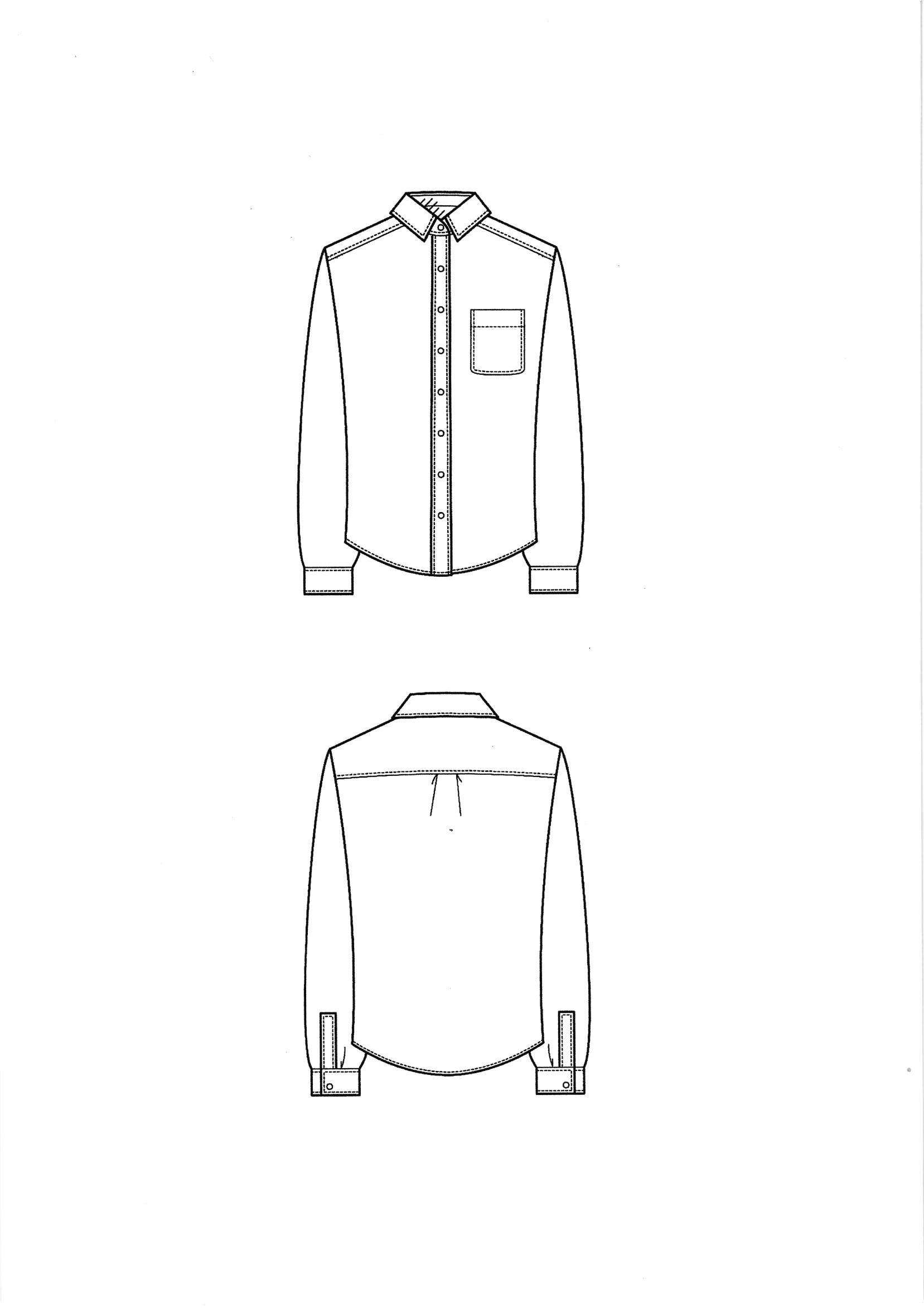Shirt Collar Sketch At Paintingvalley
