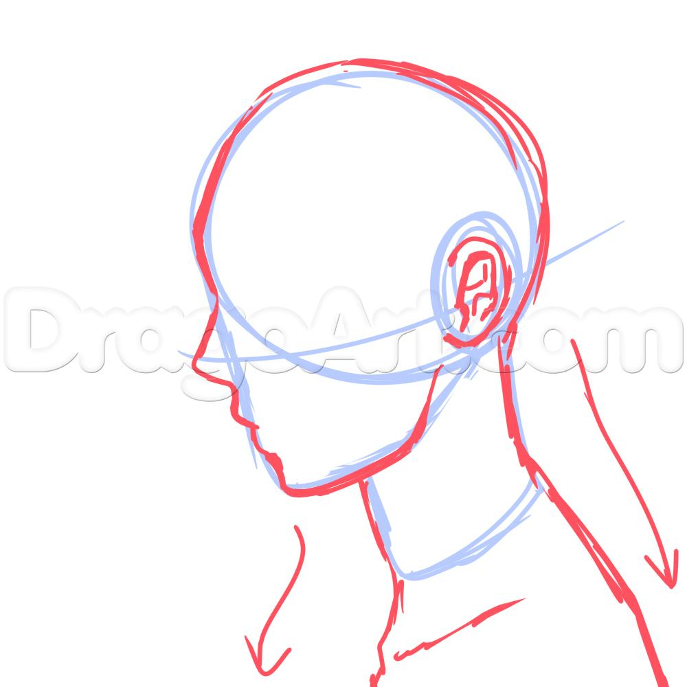 medium resolution of 1000x1000 drawing face profile cartoon gallery side face drawing cartoon side profile face sketch