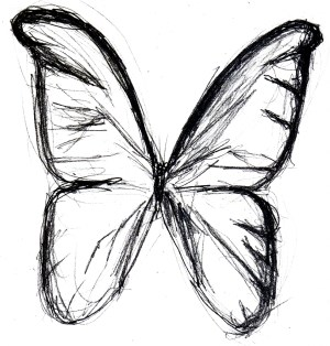 butterfly sketch simple drawing drawings line outline realistic monarch draw sketches pencil paintingvalley easy butter sketched clipartmag getdrawings