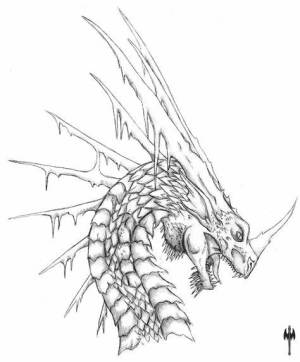dragon head drawing coloring pages ice simple sketch drawings chinese printable cool procoloring scrap evil easy deviantart realistic sketches teenagers