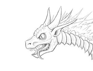 dragon fire breathing drawing simple sketch sketches portrait getdrawings paintingvalley deviantart