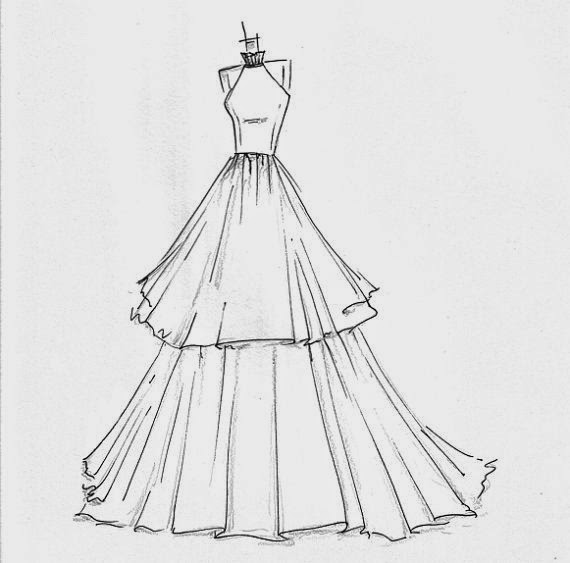 Dress Designs Drawings Easy