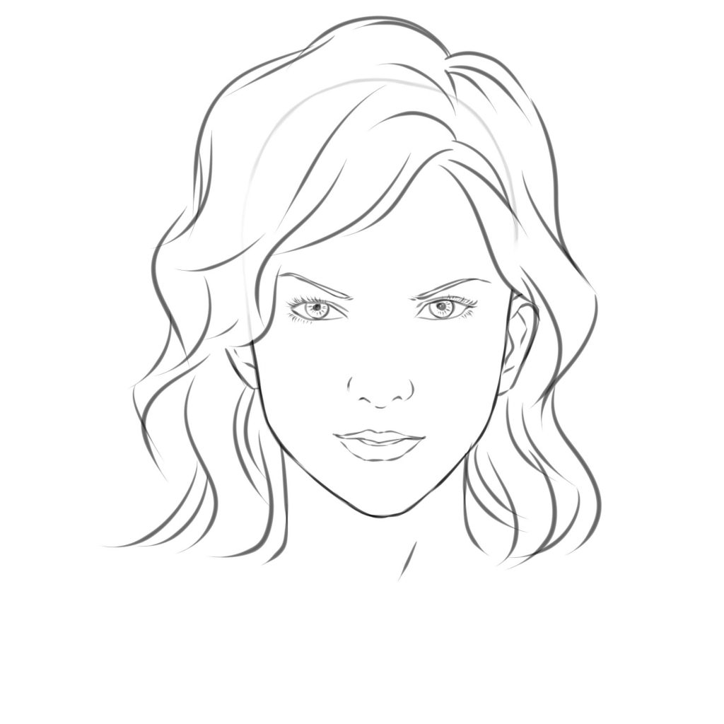 Simple Face Sketch At Paintingvalley