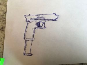 draw gun 9mm sketch simple sketches paintingvalley wikihow
