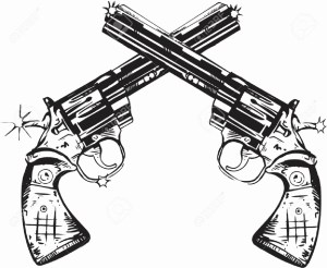 sketch gun simple pencil drawing sketches cowboy pistol paintingvalley firing
