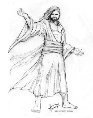 jesus christ sketch simple drawing pencil drawings redeemer sketches cross lives romrell anthony lord version know getdrawings paintingvalley painting posted