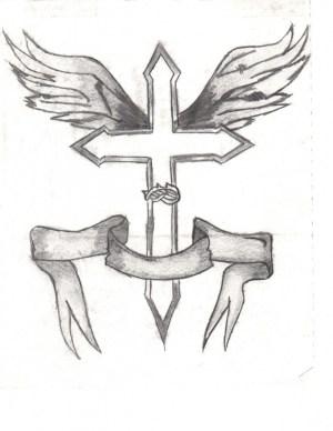 jesus cross simple drawings christian sketch easy pencil crosses drawing sketches sharpie paintingvalley