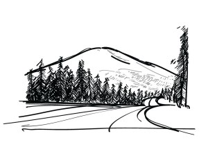 mountain simple drawing line sketch illustrate very freelancer clipart sketches clip clipartbest paintingvalley getdrawings vietnam entry