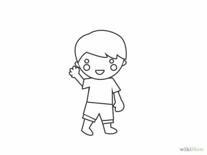 boy draw drawing cartoon simple sketch kid any drawings clipart paintingvalley sketches