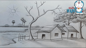 pencil sketch nature drawing simple sketches scenery natural draw paintingvalley getdrawings explore