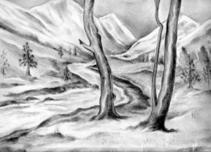 nature sketches simple sketch drawing natural pencil drawings scenery paintingvalley