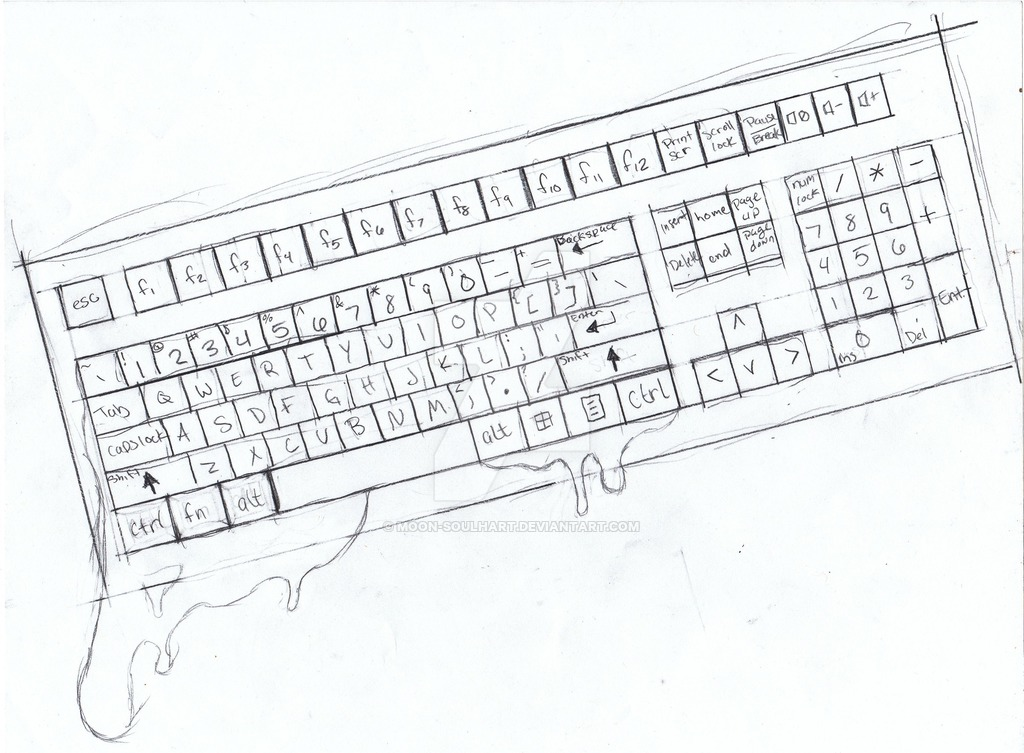 Sketch Of A Computer Keyboard at PaintingValley.com
