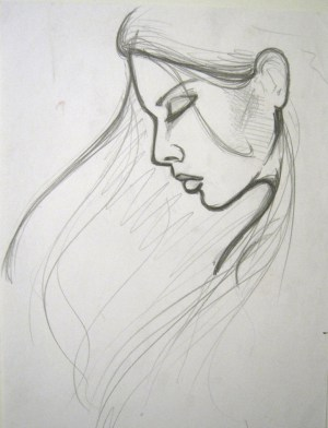 sad sketch easy pencil drawings lonely drawing draw sketches loneliness paintingvalley