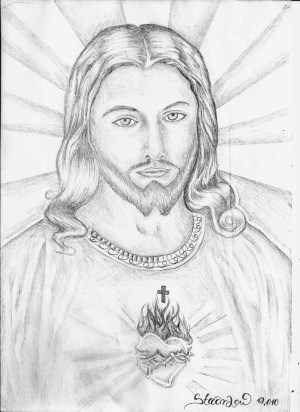 jesus christ pencil drawing sketch simple face drawings cross shading stach low sketches cliparts getdrawings imagixs colorear dibujos imagenes para