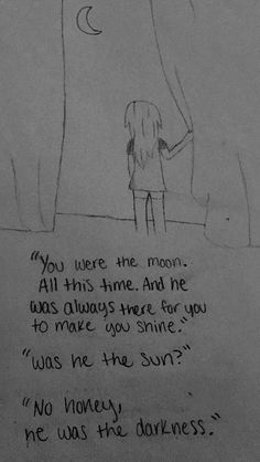 drawings sad quotes sketch drawn moon meaningful depression easy sun drawing draw sketches hagen rachel depressing paintingvalley pencil visit anxiety