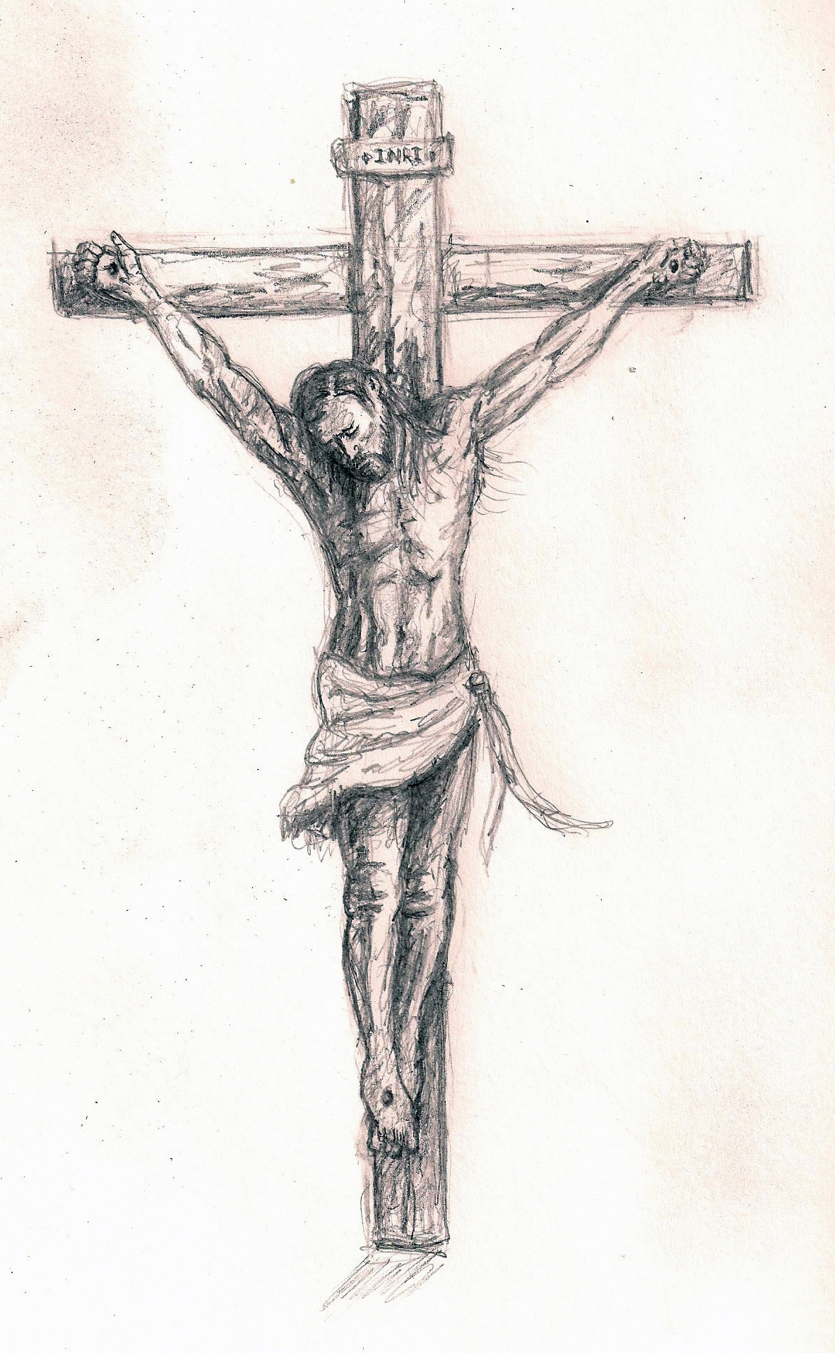 sketches of jesus on