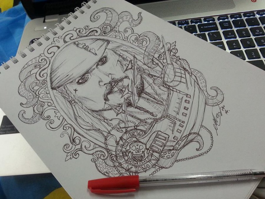 Captain Jack Sparrow Tattoo Designs