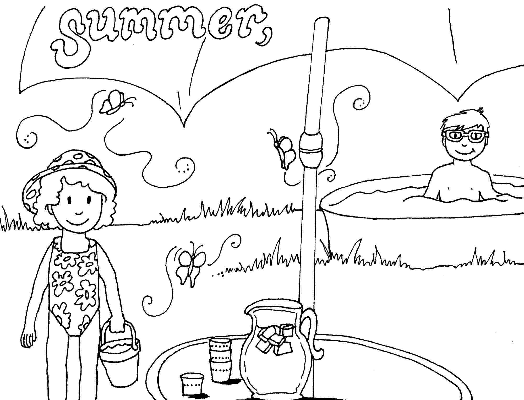 Summer Season Sketch At Paintingvalley