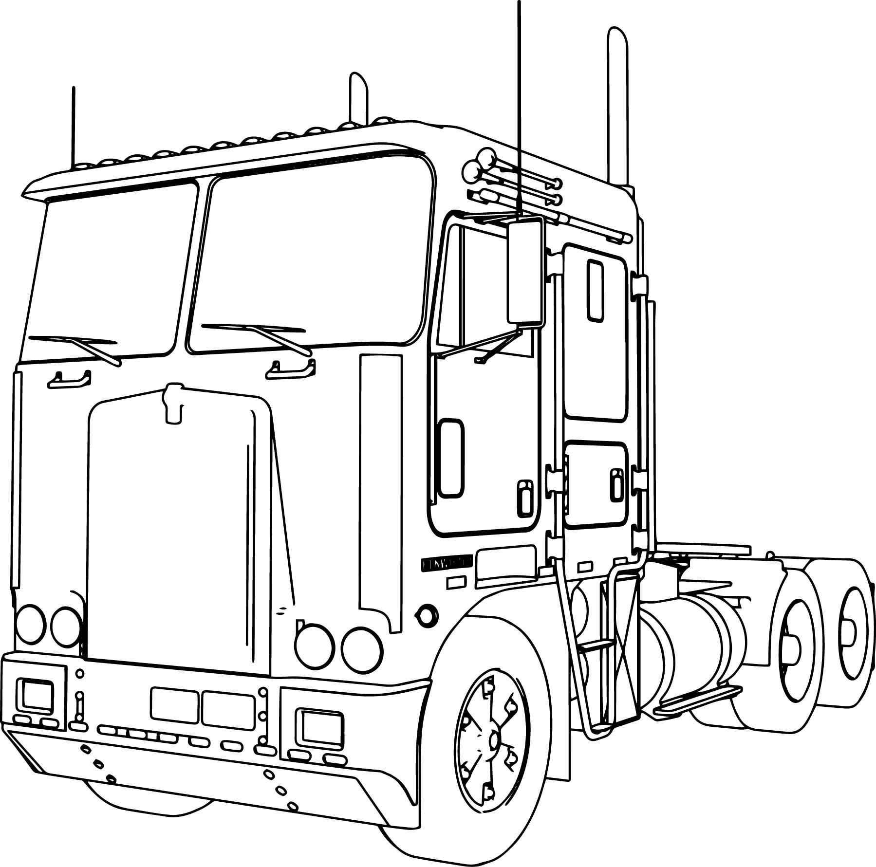 Tractor Trailer Sketch At Paintingvalley
