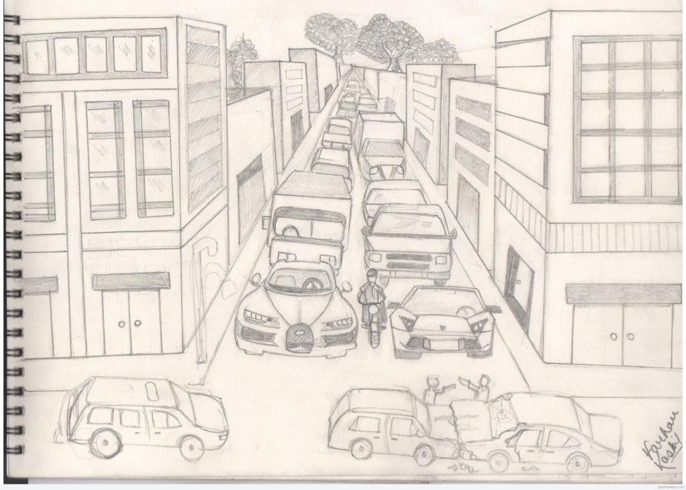 medium resolution of 3508x2510 pencil sketch of traffic jam traffic sketch