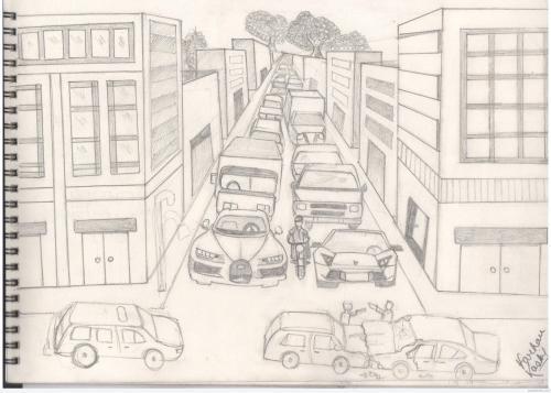 small resolution of 3508x2510 pencil sketch of traffic jam traffic sketch