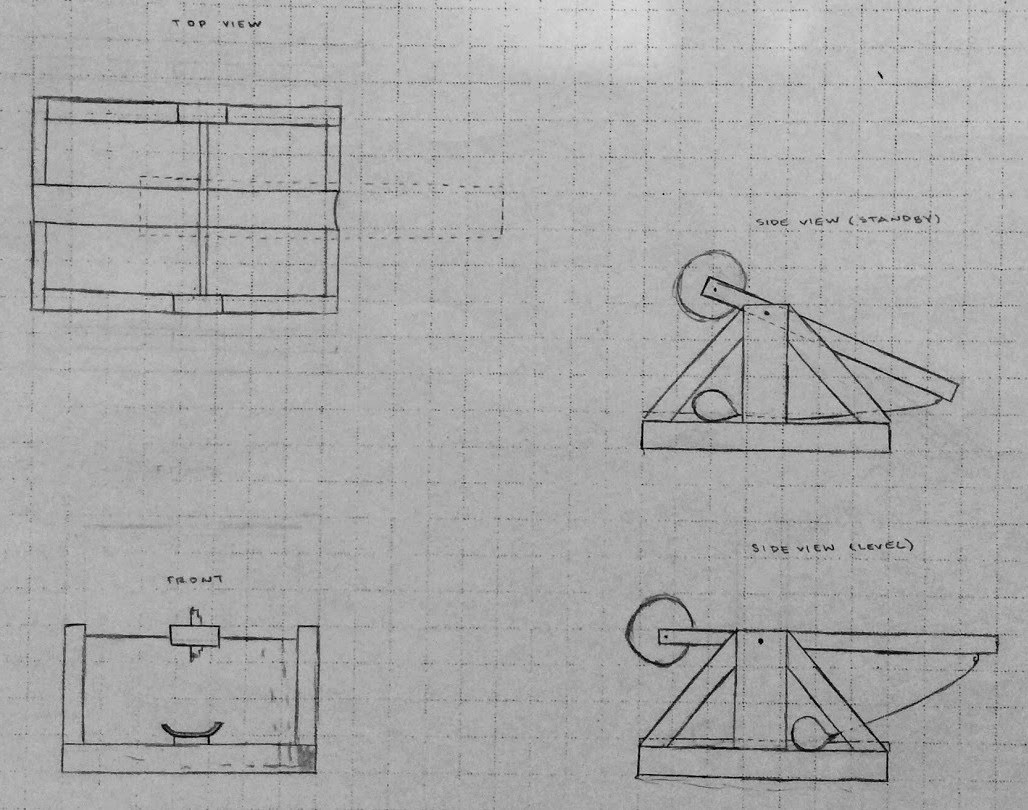 hight resolution of final concept sketch trebuchet sketch