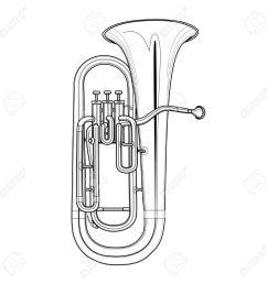 1300x1300 tuba clipart euphonium frames illustrations hd images tuba sketch [ 1300 x 1300 Pixel ]