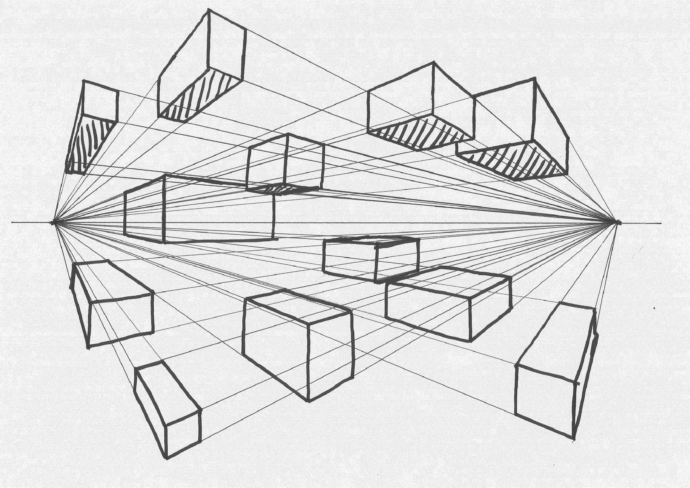 Two Point Perspective Sketch At Paintingvalley