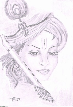 krishna drawing sketch sketches simple doll radha unique god sketching lord pencil easy drawings ganesha cool getdrawings dolls paintingvalley painting