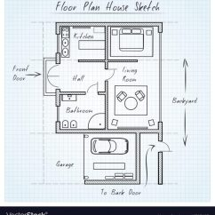 Sketch Diagram Online Porsche 911 Wiring Vector At Paintingvalley Com Explore Collection Of 672x726 Floor Plan House Royalty Free Image Sketchup