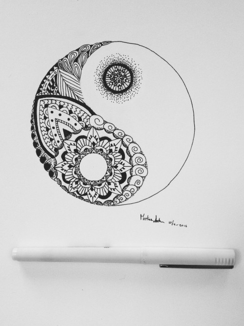 Yin Yang Sketch At Paintingvalleycom Explore Collection Of Yin