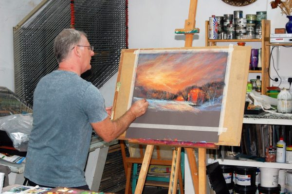 Les Darlow pastel workshop