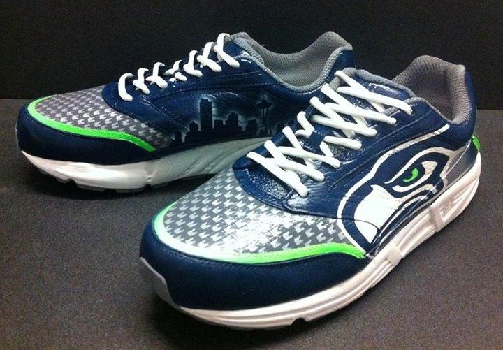 Seattle Seahawks Custom Shoes: Nikes. Chucks. and Cleats