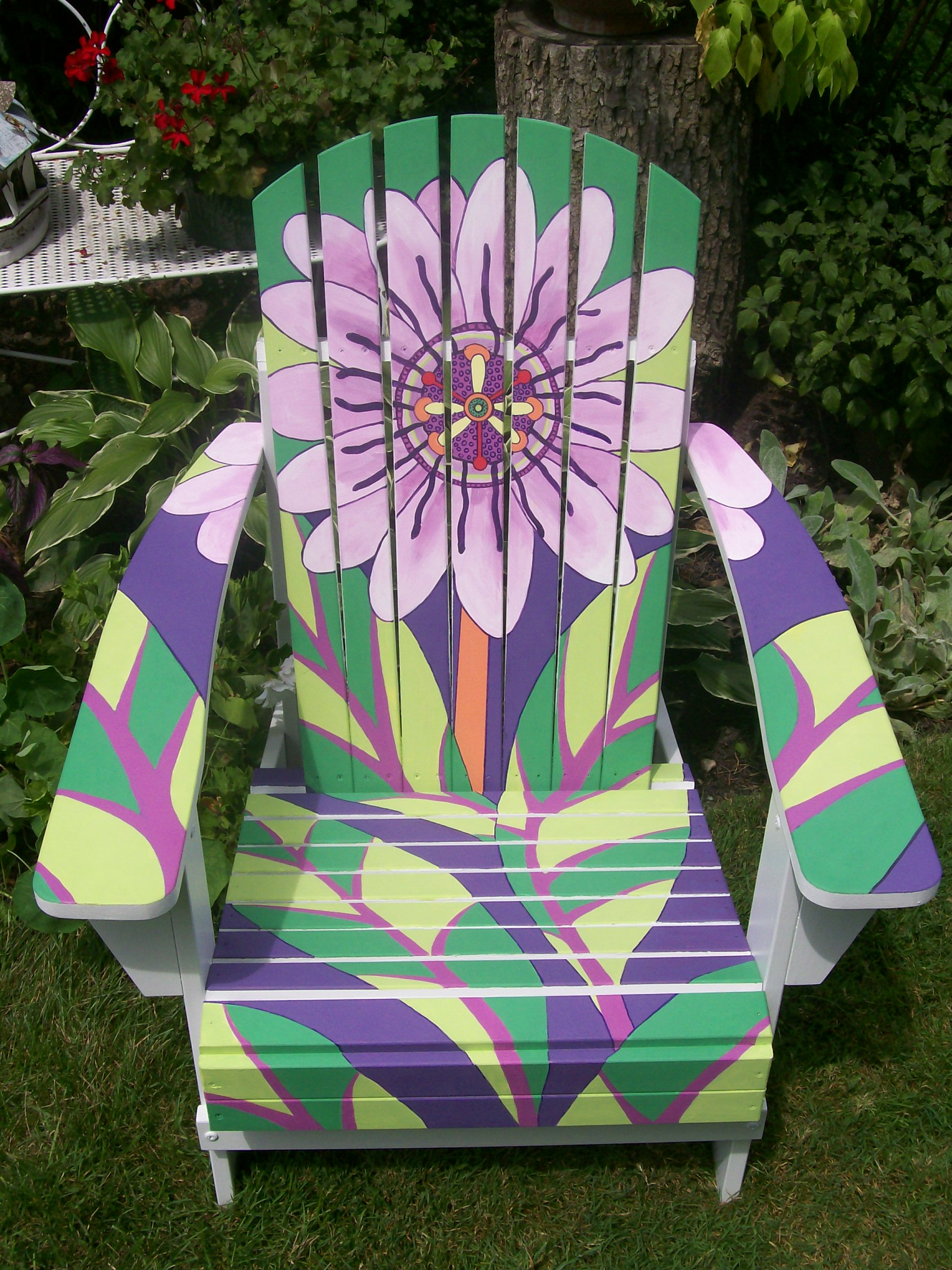 paint for adirondack chairs office chair gym ball adorned with art deco motif painting in partnership