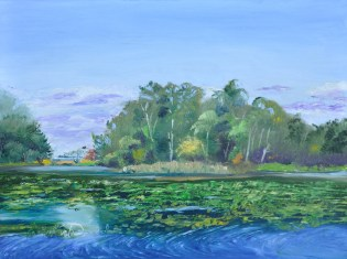 """Hawks Fly Above, Unseen"" Plein Air at Hawk Fest"