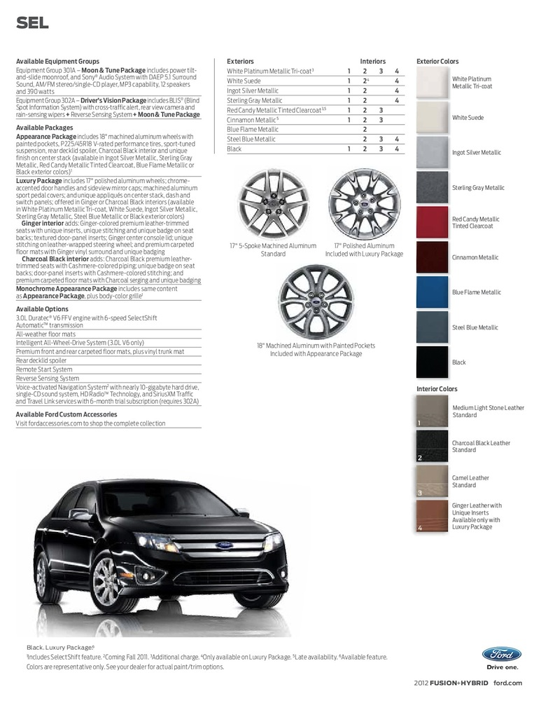 Ford 2012 Fusion Sales Brochure