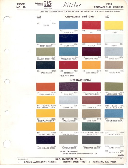 small resolution of paint chips 1969 chevy truck fleet commercial 1955 chevy truck paint colors 1955 circuit diagrams
