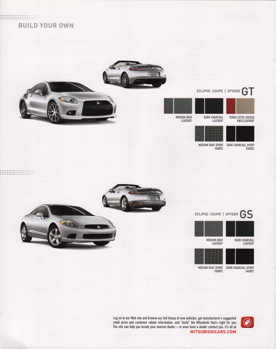 Mitsubishi 2009 Eclipse Sales Brochure