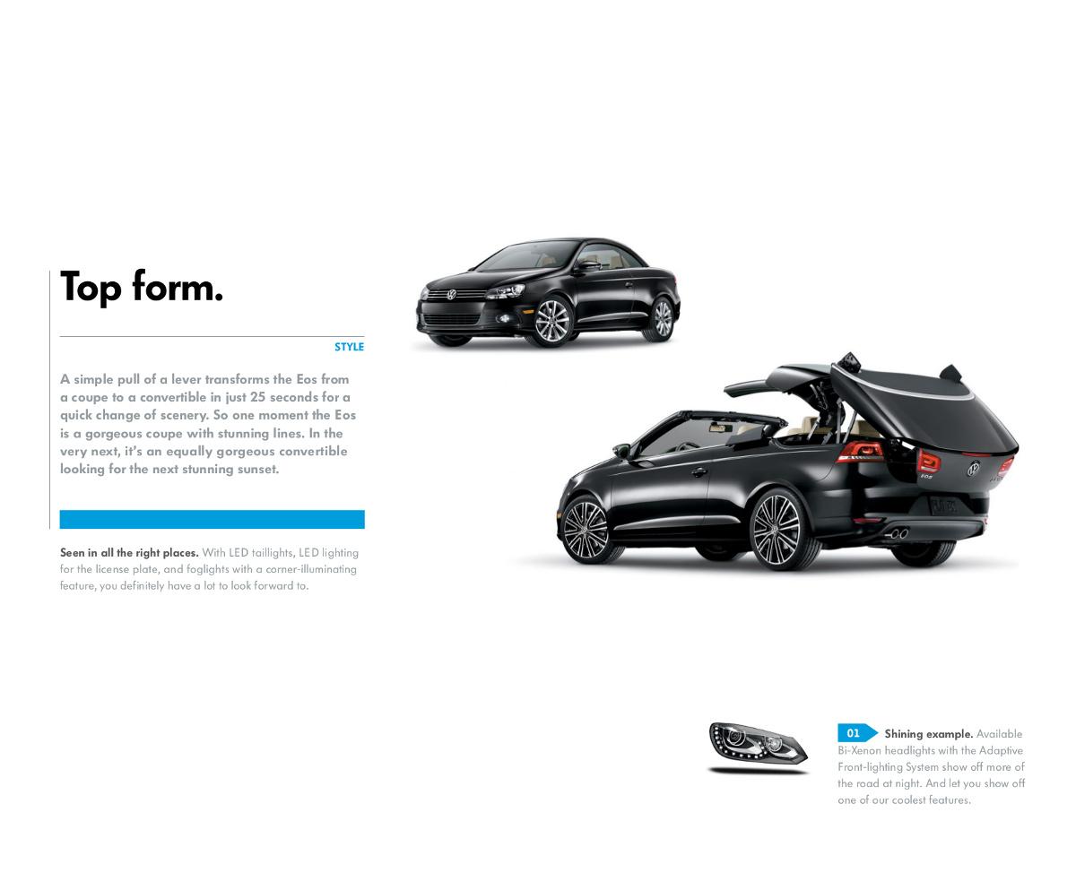 Volkswagen 2014 Eos Sales Brochure