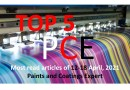 Top 5 Most read articles from 12-18 April, 2021 on Paints and Coatings Expert